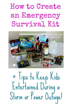 How to Create an Emergency Survival Kit + Tips to Keep Kids Entertained During a Storm or Power Outage! #PrepWithPower #cbias #shop