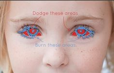 Dodge will lighten. Burn will darken. So zoom very close in there and follow this easy, three-step tutorial.