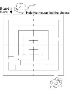 Print out theant maze. You can laminate it and use erasable pens for file folder games or centers, otherwise use as is for worksheets. Download and Print PDF File—->Ant Maze …