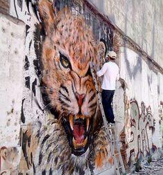 Foto: • ARTIST . SAV45 •  ◦ Tiger ◦ location: Mataró, Spain #streetart