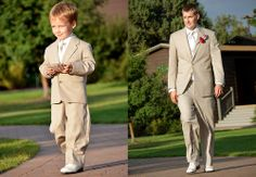 So cute!  Love the symmetry between the ring bearer and the groom....  | Denver Boulder wedding photographer | Jesse La Plante Photography