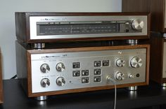 The best ever Integrated Amplifier from Luxman. Signature Model L 58 a. Above very rare Tuner Luxman L 50 a.
