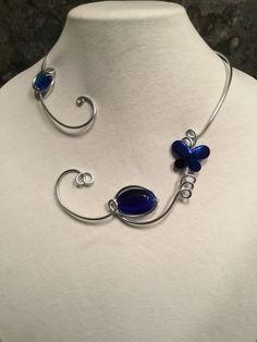 >>>Pandora Jewelry OFF! Red Jewelry, Pandora Jewelry, Charm Jewelry, Pandora Charms, Wire Necklace, Metal Necklaces, Collar Necklace, Aluminum Wire Jewelry, Wire Wrapped Jewelry