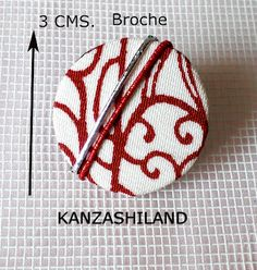 Japanese fabric brooch kanzashiland