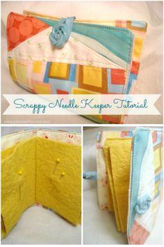 scrappy needle book keeper tutorial   patchwork posse