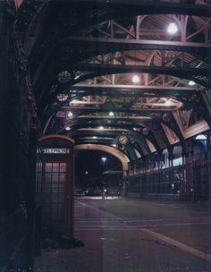 london city night lights landscape buildings