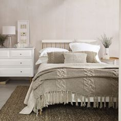 Westbourne Throw | The White Company  This is like ideally the exact way I want my room, just perfect!