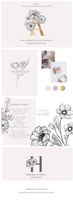 Awakening Floral Graphics & Letters by Laras Wonderland on @creativemarket
