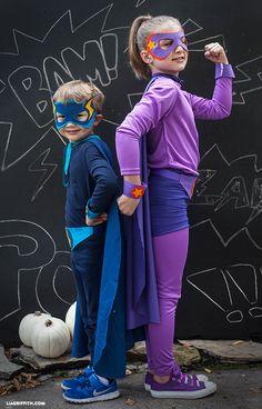Homemade Halloween Costumes: No-Sew Superheros