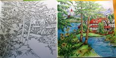 """from """" Come Home to Color """" Coloring book . Did it in colored pencils. Great coloring book by Debbie Macomber."""