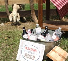 Drinks at a Cowboy Party #cowboy #partydrinks