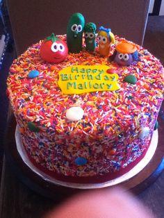 Sprinkle Veggie Tales Cake