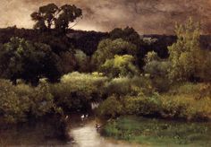 The Athenaeum - A Gray, Lowery Day (George Inness - )