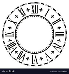 Illustration of Vintage Roman numeral clock isolated on white background. vector art, clipart and stock vectors. Half Sleeve Tattoo Stencils, Clock Face Printable, Flower Tattoo Drawings, Flower Tattoos, Face Stencils, Faith Tattoo On Wrist, Roman Clock, Clock Tattoo Design, Watch Tattoos