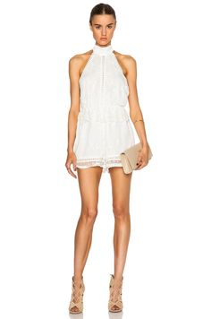 Zimmermann Admire Cherry Romper in Ivory
