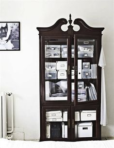 Dressers Dark Wood and Glass