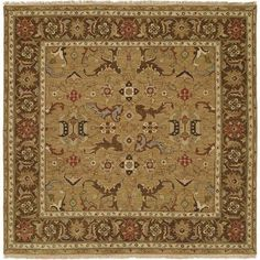 Wildon Home  Antofagasta Hand-Woven Gold/Brown Area Rug Rug Size: