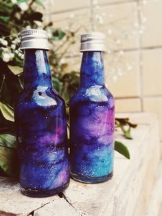 So I tried the DIY Galaxy in a bottle pin and this is what I got...
