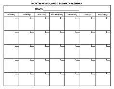 Printable Blank Calendar Template                                                                                                                                                                                 More