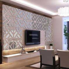 The Mirrored Chevron Print Wall Decoration Is A Beautiful Decorative  Addition To Any Room In Your Home. It Is Easy To Install And Adds A Very  Classy Touch ...