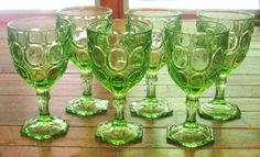 My favorite dishes....green depression glass.