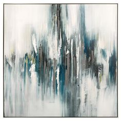 Framed Art - Teal Abstraction/Framed Art/Wall Decor|Bouclair.com