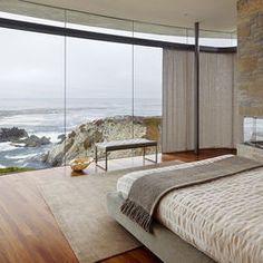 Urrutia Design - contemporary - bedroom - san francisco - Urrutia Design  -put in all glass windows?  (am light though). over-sized chair?