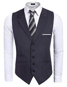 KLJR Men Warm Knit Button Down Sleeveless Solid Sweater Vest Waistcoat