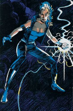 Storm pin up by Barry Windsor-Smith from Marvel Fanfare #45