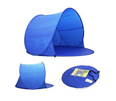Portable Pop Up Tent Family Beach Tent Sun Shelter Popup Canopy for C&ing ***  sc 1 st  Pinterest & Genji InstantUp Pop Up Park and Beach Sun Shelter Tent with Door ...
