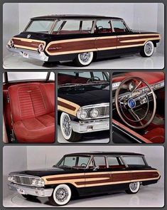 Classic Car News Pics And Videos From Around The World Hot Rod Trucks, New Trucks, Autos Ford, Station Wagon Cars, Woody Wagon, 1964 Ford, Ford Classic Cars, Ford Fairlane, Classic Motors