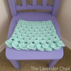 FREE - CROCHET - Stacked Shells Baby Skirt Crochet Pattern - The Lavender Chair ~ intermediate level ` fits sizes newborn, mos and mos. Crochet Baby Dress Free Pattern, Skirt Pattern Free, Crochet Basket Pattern, Crochet Baby Clothes, Free Crochet, Crochet Patterns, Irish Crochet, Learn Crochet, Vest Pattern