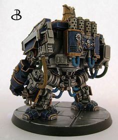 Space marine Venerable Dreadnought Tobias #dreadnought #venerable  #scifiart…