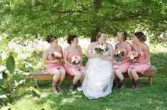 A.S.W. Old Family Homestead Weddings: Bride & Bridesmaids ©Amber S. Wallace Photography, North Carolina