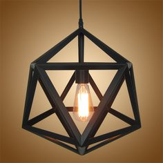 Industrial Hexagonal Pendant Lamp