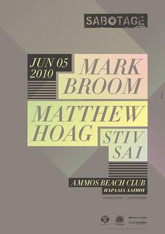 Mark Broom / Matthew Hoag Poster by Sébastien Nikolaou, via Behance