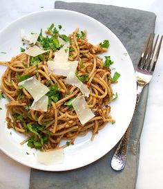 Vegetarian Puttanesca Pasta   Love the way this is made, roasted veg pureed into a tapenade!