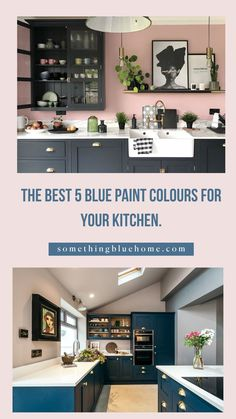 One of the most common questions I get asked on Instagram is what colour are your kitchen cabinets! HAGUE BLUE. That's what they are. Choosing a kitchen cabinet colour is hard enough and when you're getting a bespoke kitchen that is going to be an investment, forever kitchen— it can be downright anxiety-provoking! Shaker Kitchen Cabinets, Kitchen Cabinet Colors, Beautiful Kitchen Designs, Beautiful Kitchens, Blue Home Decor, Diy Home Decor, Diy Kitchen Decor, Kitchen Ideas, Hague Blue