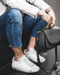 Sneakers For Girl : Bag: tumblr black louis vuitton louis vuitton designer denim jeans blue jeans cr