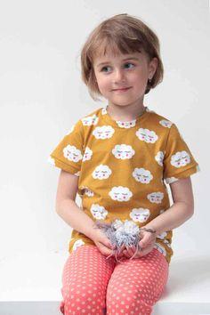 Střih na dětské tričko s krátkým rukávem Polka Dot Top, Rompers, Tops, Dresses, Women, Fashion, Vestidos, Moda, Fashion Styles