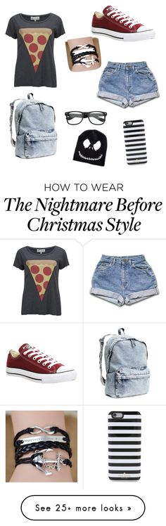 """My First Polyvore Outfit"" by gigivaninha on Polyvore featuring Converse, Wildfox, H&M and Kate Spade"