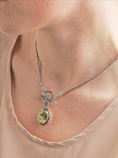 Gorgeous Lemon Quartz Enhancer with Ornate Toggle Necklace http://janellepowell.willowhouse.com - Enhancer comes in 2 sizes~
