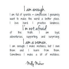 I am enough - Molly Mahar