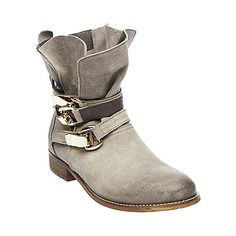 30e88931f HAGGLE GREY SUEDE women s bootie flat casual - Steve Madden Suede Boots
