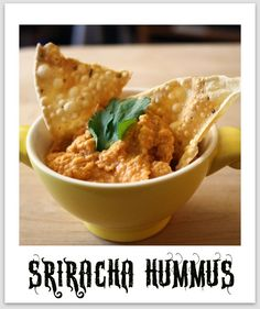 I thought it was time to share my go-to hummus recipe, Spicy Sriracha Hummus! I make hummus veggie wraps once a week for dinner (it's a gre. Sriracha Recipes, Vegan Recipes, Cooking Recipes, Sauce Recipes, Yummy Recipes, Cooking Tips, Healthy Snacks, Healthy Eating, Appetizer Recipes
