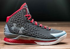 Under Armour Curry One 1 Away Underdog Dark Grey Silver Red Discount Nike  Shoes 814b5c5994
