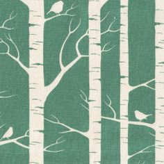 A beautiful contemporary home decorating print on natural hemp/cotton. This design is hand-printed in Australia. The tree design runs across the width of the fabric.