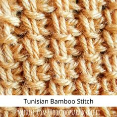 Knitting Patterns Free, Stitch Patterns, Pineapple Crochet, Easy Video, Tunisian Crochet, Crochet Basics, Stitches, Bamboo, Etsy Seller