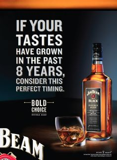 LOVE Copy driven copy and well crafted Art Direction. Jim Beam Black By StrawberryFrog