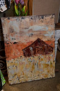 rustic artwork-love the colors. www.deanndesigns.com